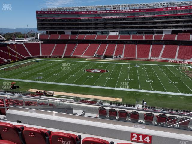 Levi's Stadium Section C 214 view
