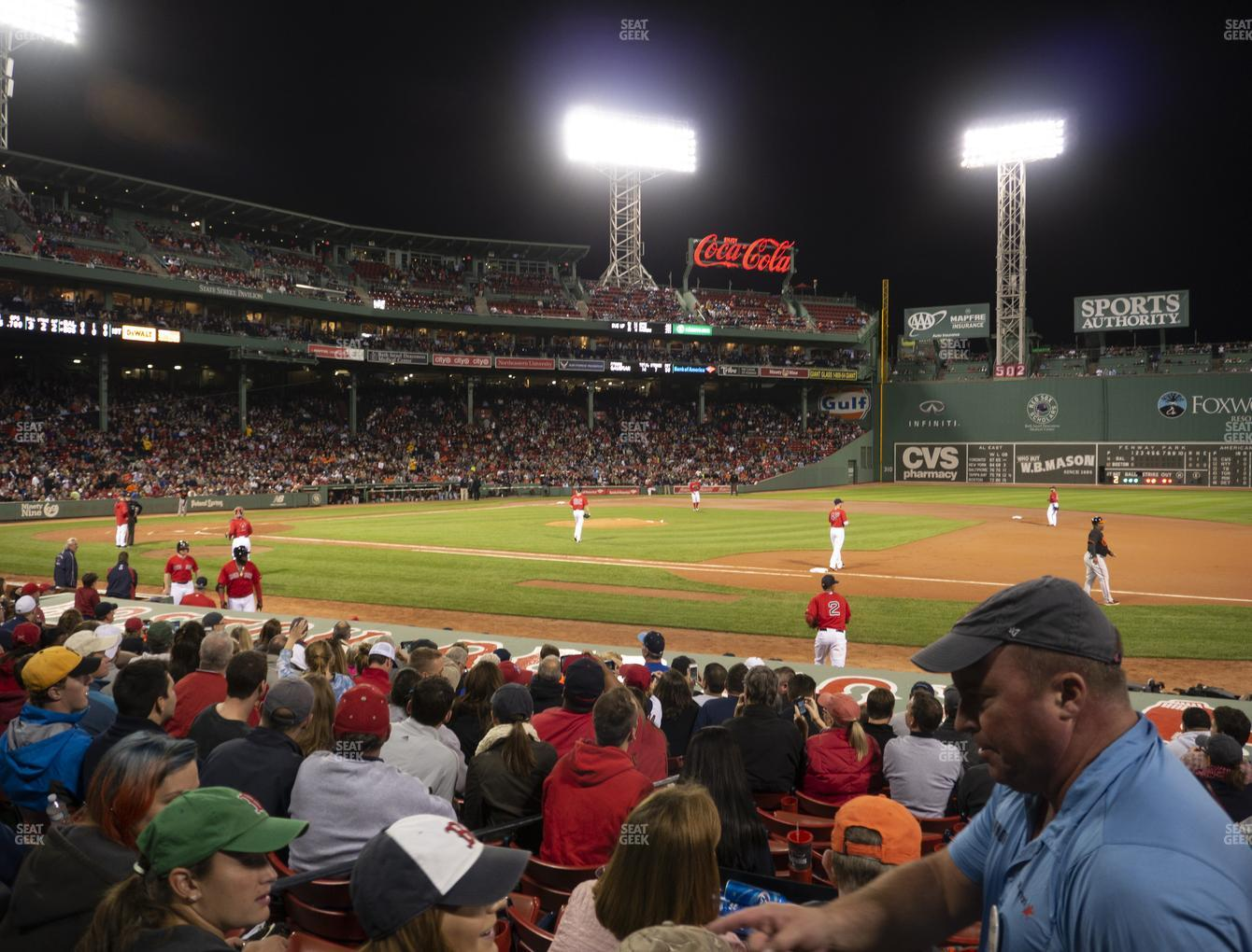 Boston Red Sox at Fenway Park Loge Box 109 View