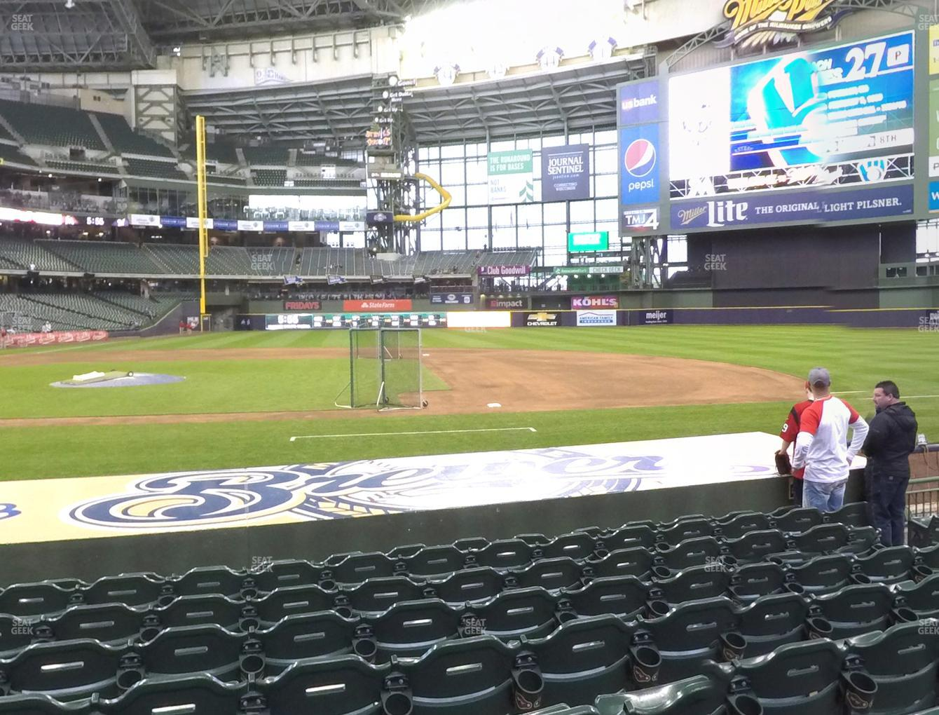 Milwaukee Brewers at Miller Park Section 113 View