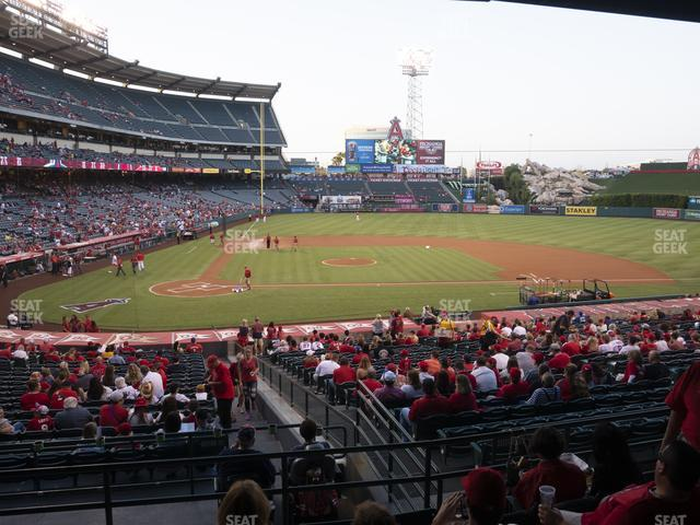 Angel Stadium of Anaheim Section 222 view