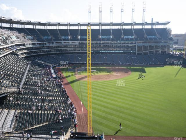 Progressive Field Section 415 view