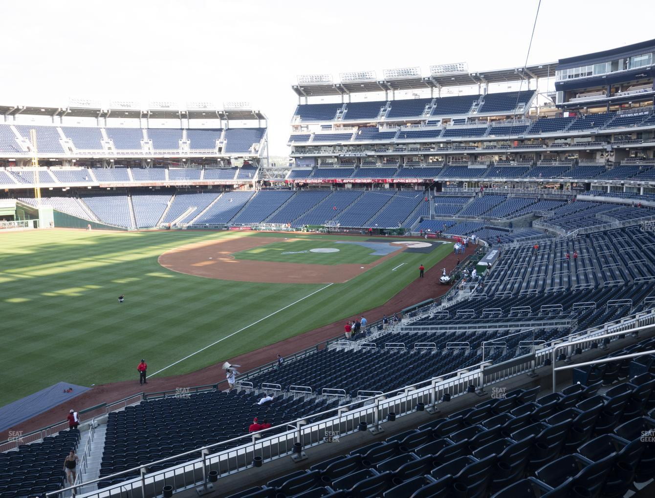 Washington Nationals at Nationals Park Section 202 View