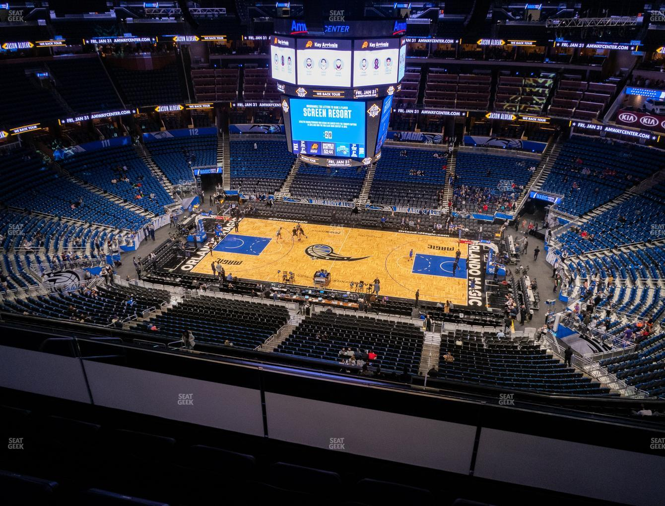 Orlando Magic at Amway Center Section 208 View