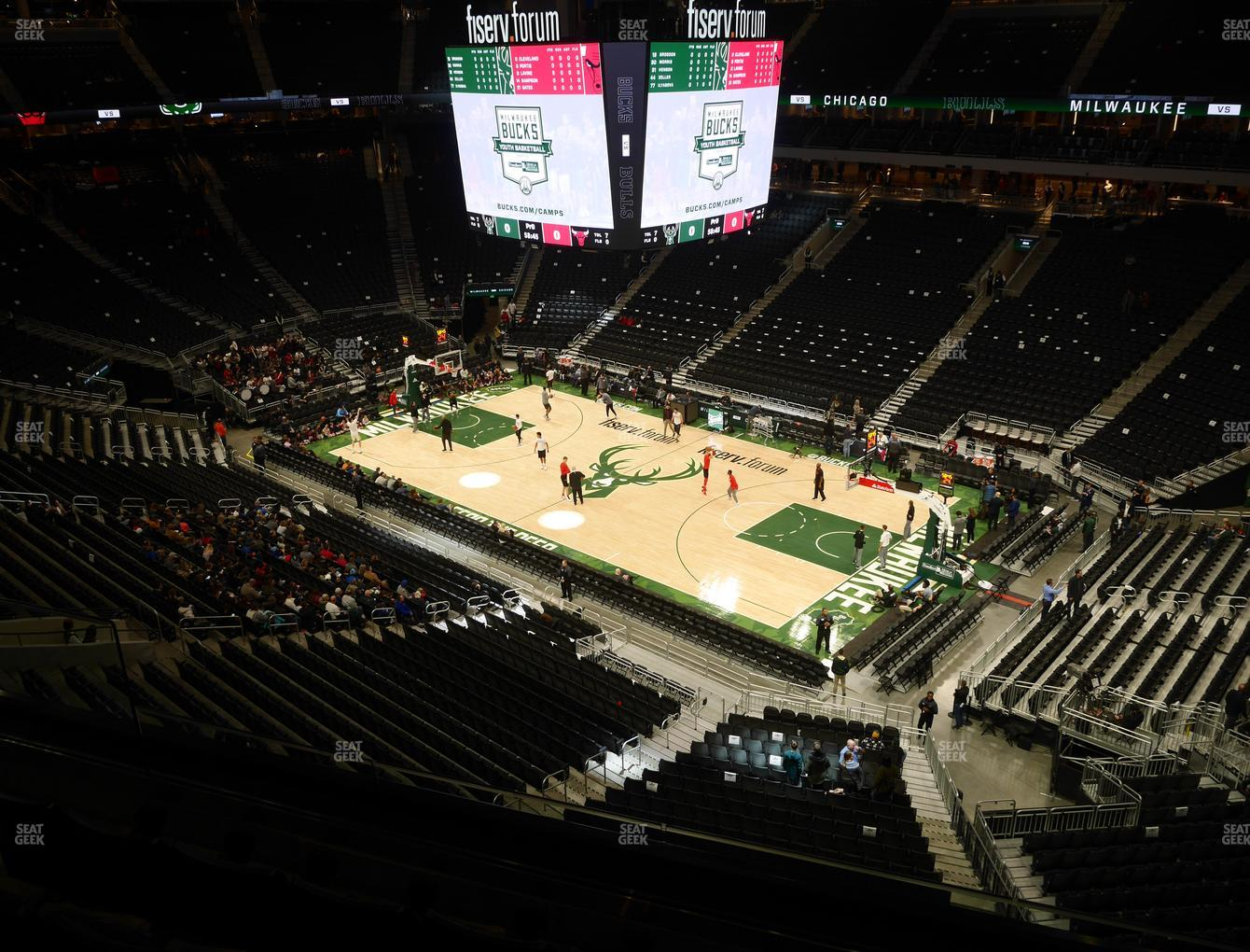 Milwaukee Bucks at Fiserv Forum Section 205 View