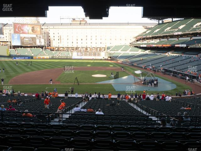 Oriole Park at Camden Yards Section 49 view