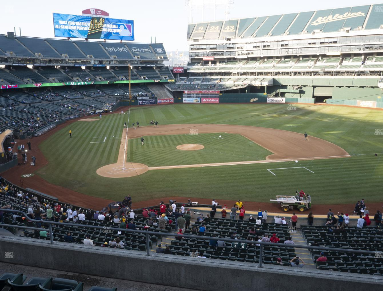 Oakland Athletics at RingCentral Coliseum Section 214 View