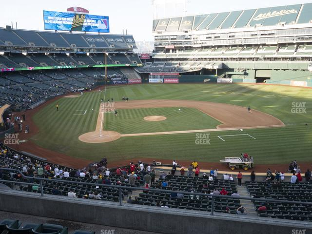 Oakland-Alameda County Coliseum Section 214 view