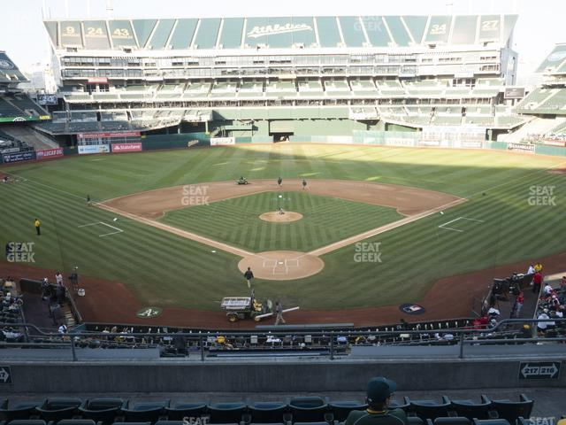 Oakland-Alameda County Coliseum Section 217 view
