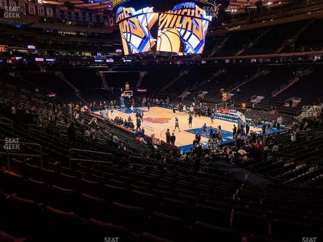 Madison Square Garden Section 110 view