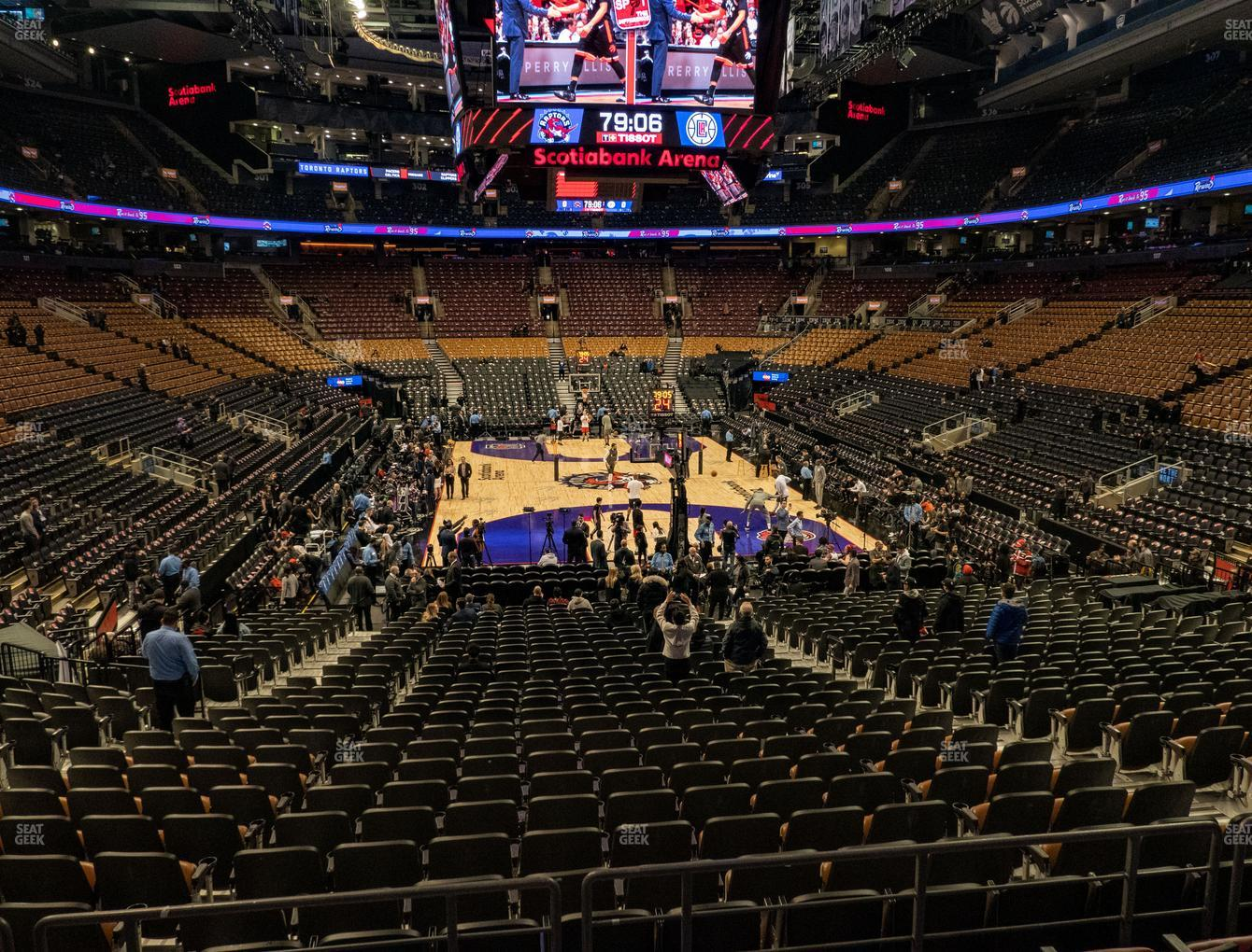 Toronto Raptors at Scotiabank Arena Section 114 View