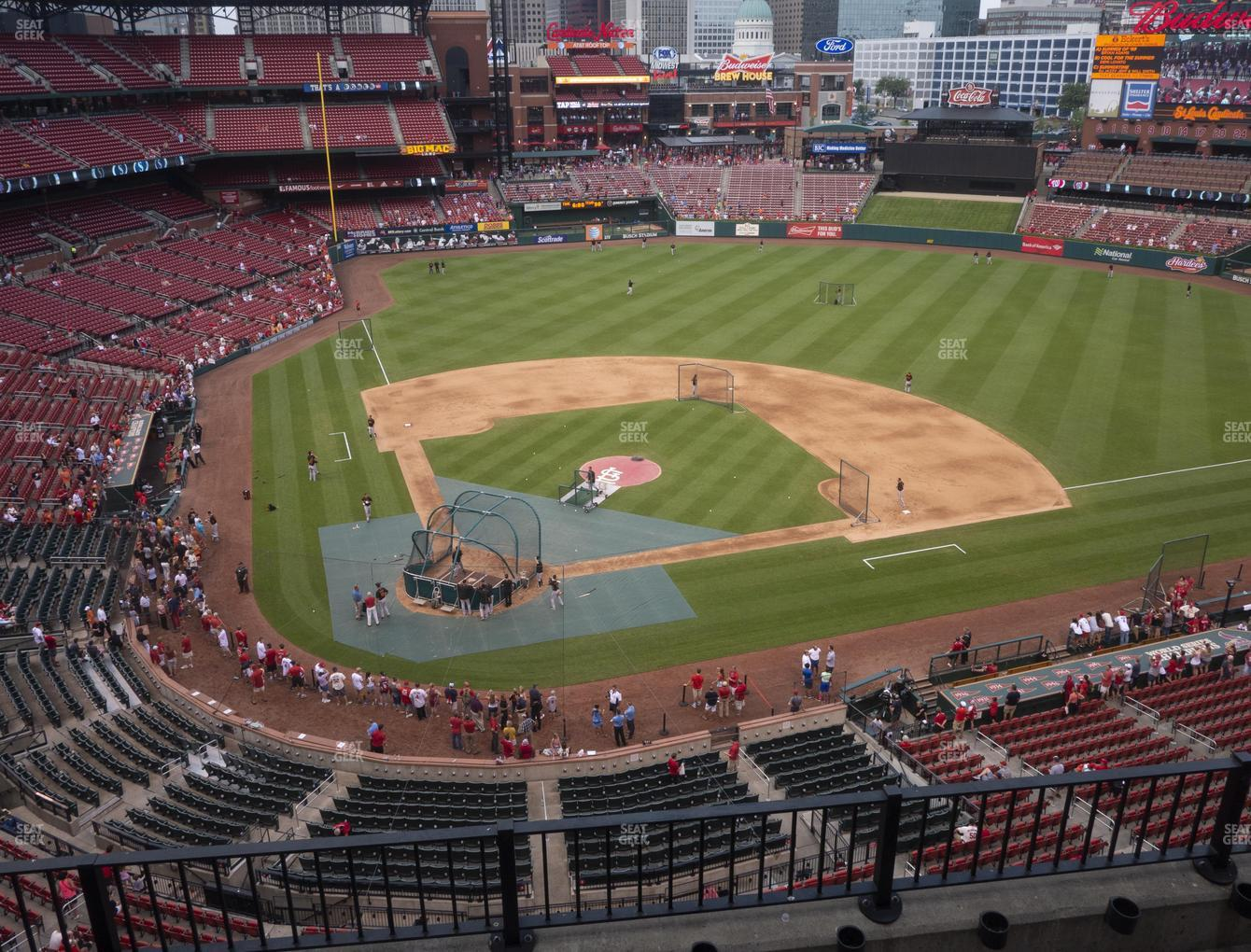 St. Louis Cardinals at Busch Stadium Home Pavilion 347 View