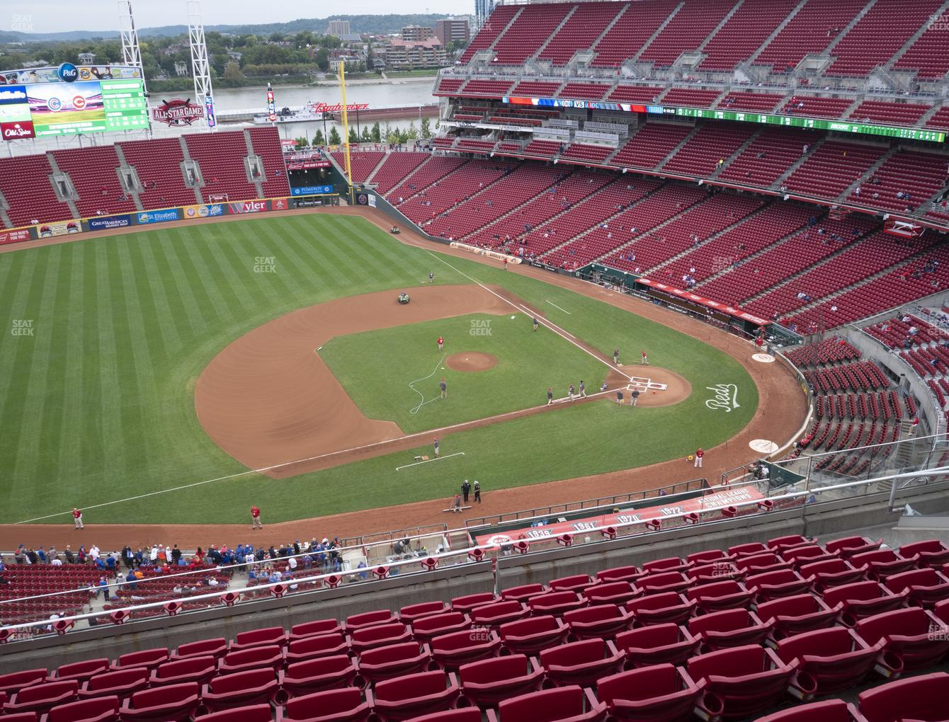 Cincinnati Reds at Great American Ball Park Section 516 View
