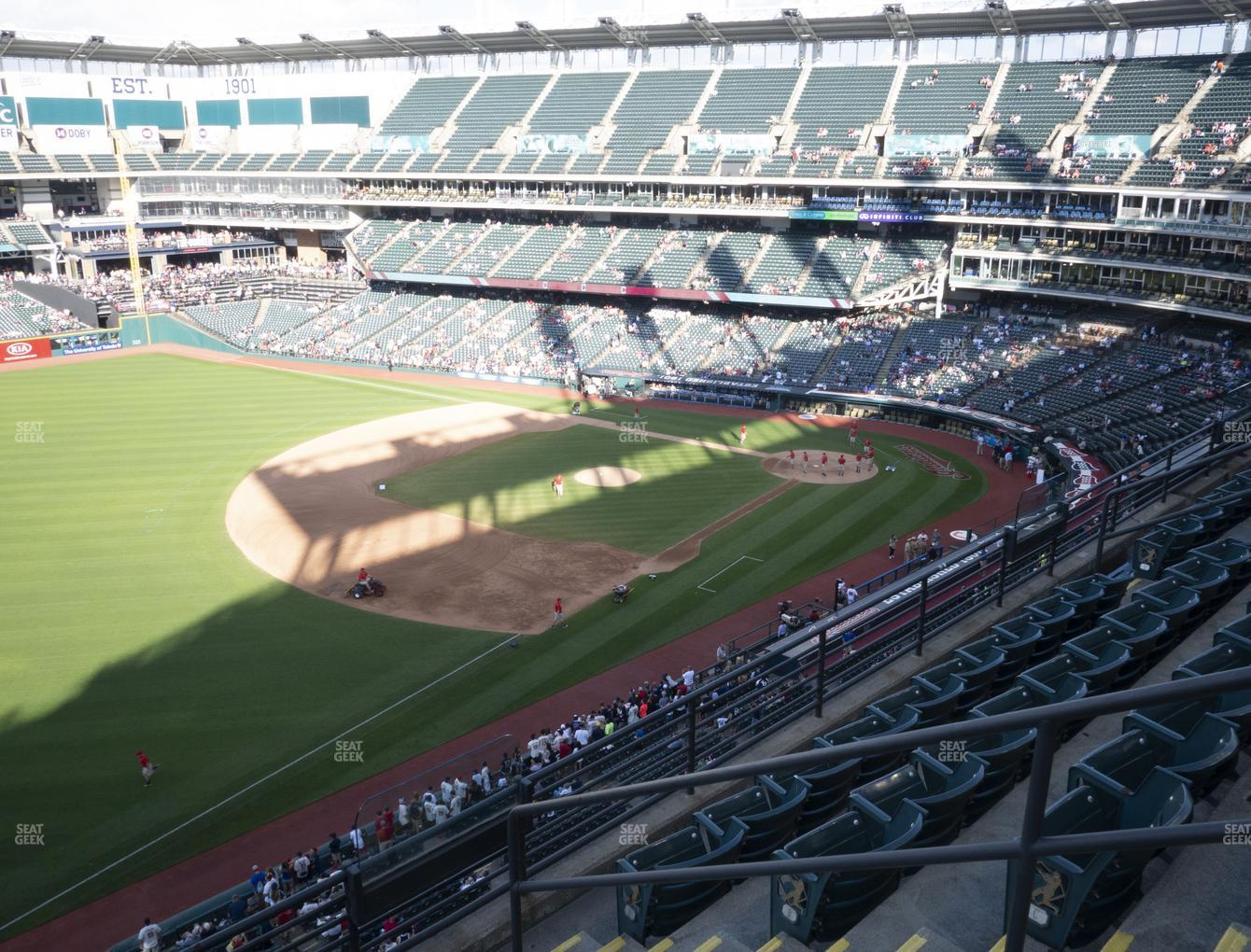 Cleveland Indians at Progressive Field Section 473 View