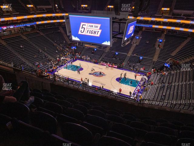 Vivint Smart Home Arena Section 129 view