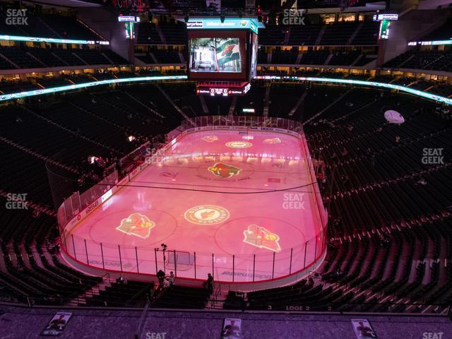 Xcel Energy Center Section Club 15 view