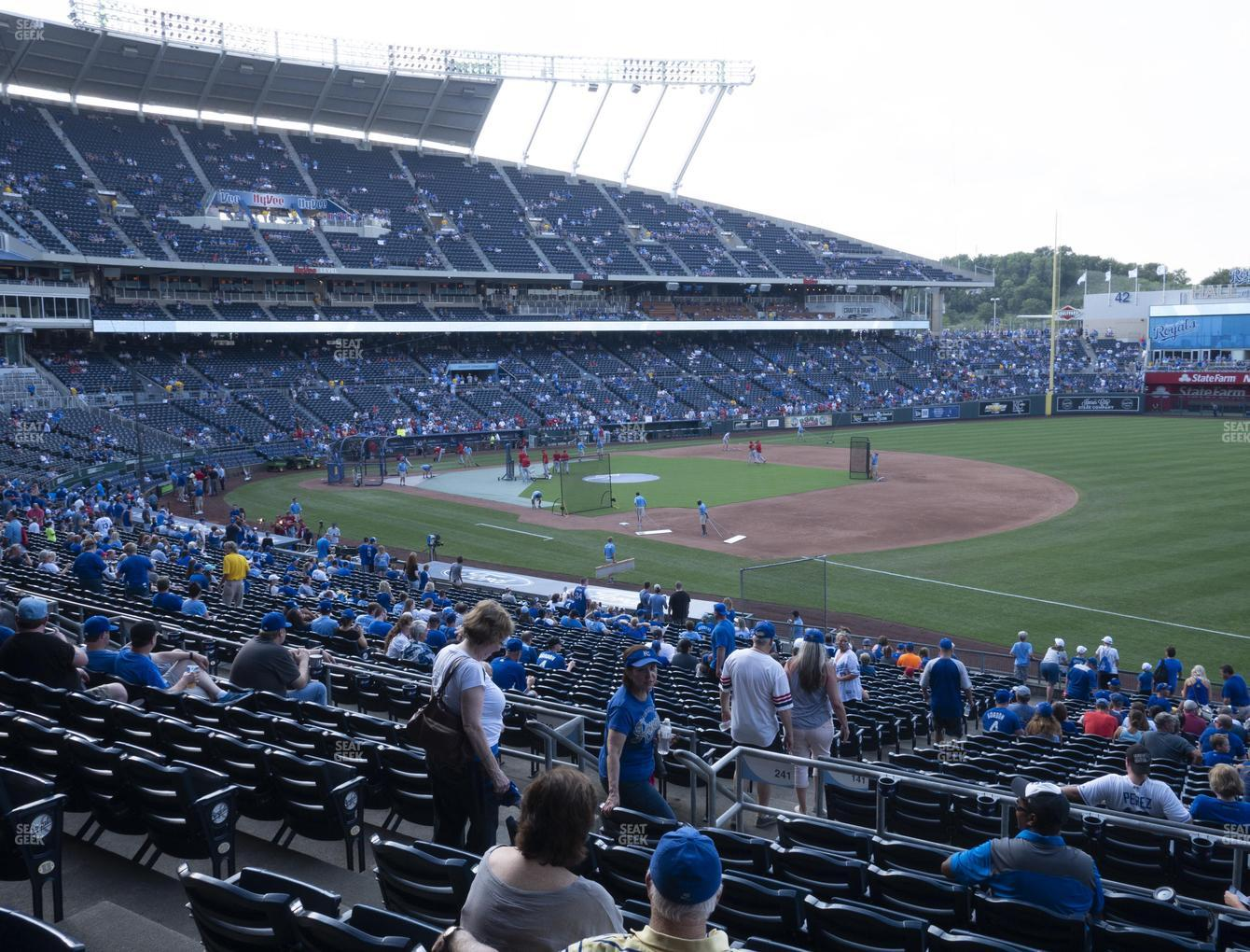 Kansas City Royals at Kauffman Stadium Section 241 View