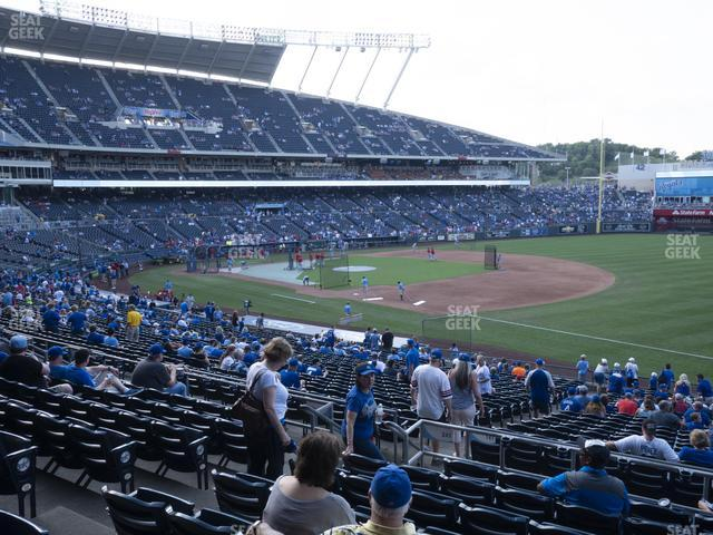 Kauffman Stadium Section 241 view