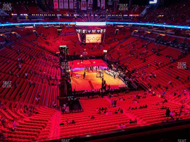 American Airlines Arena Section 317 view