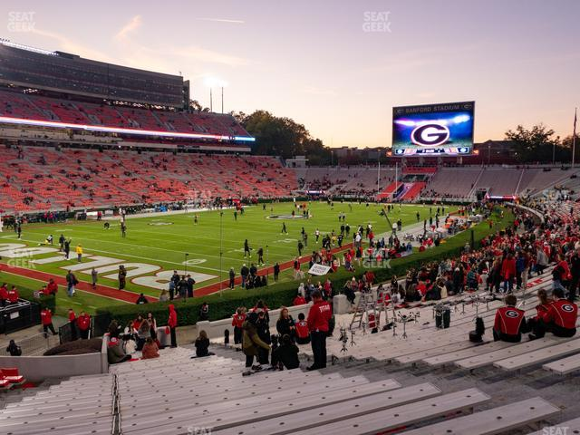 Sanford Stadium Section 113 view