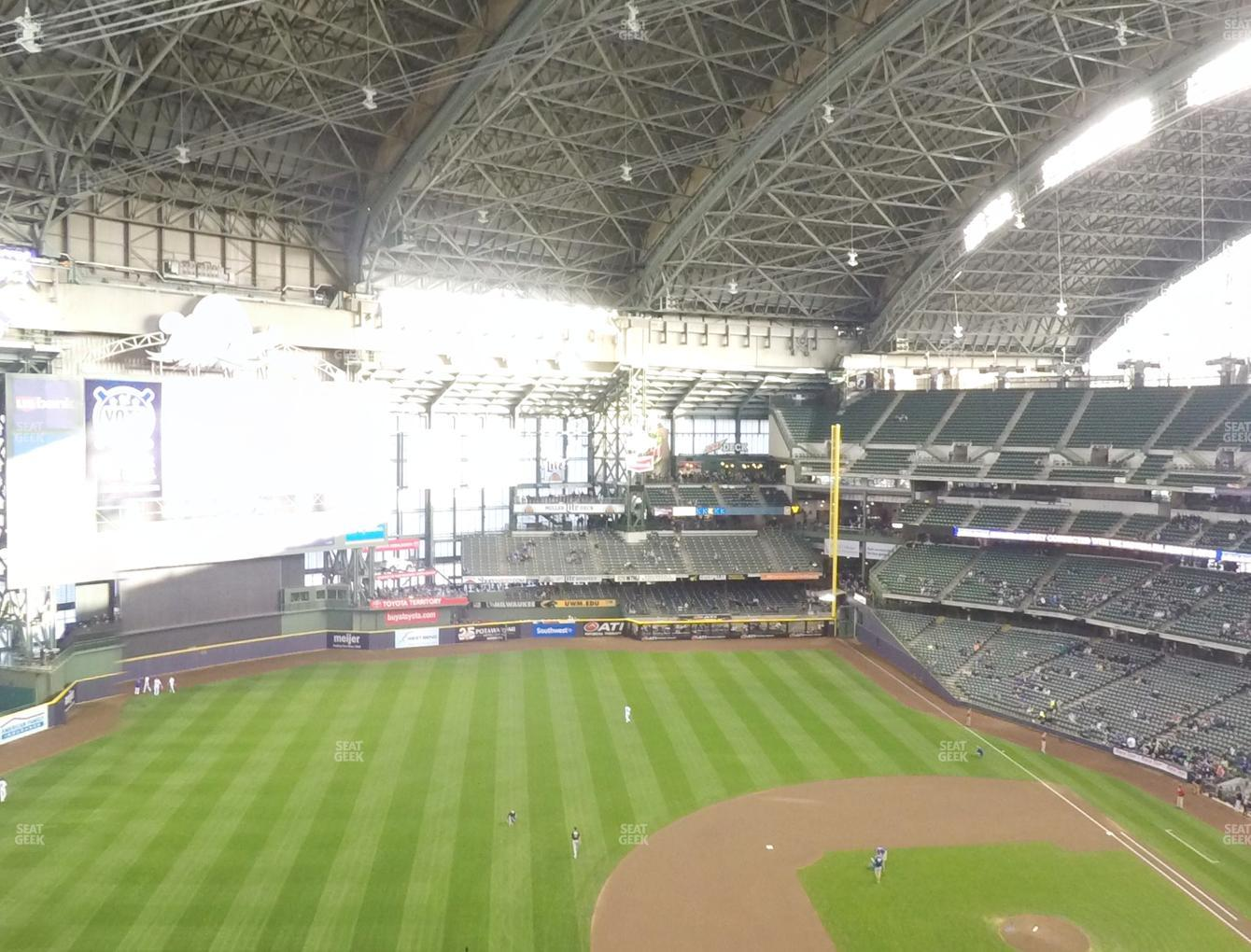 Milwaukee Brewers at Miller Park Section 431 View