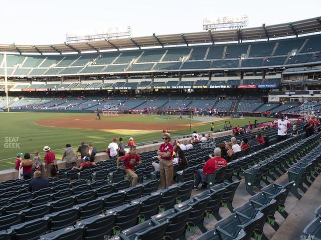 Angel Stadium of Anaheim Section 107 view