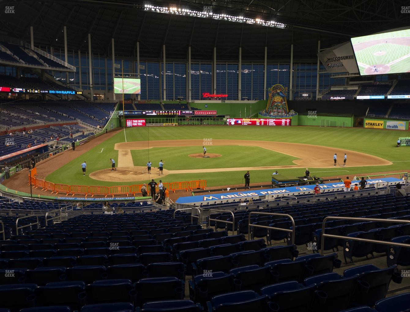 Miami Marlins at Marlins Park Section 11 View
