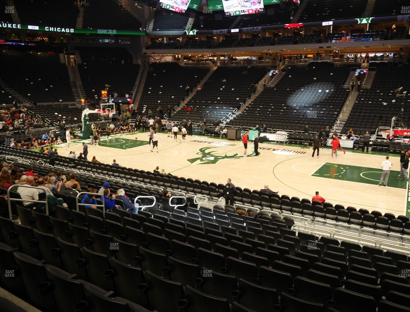 Milwaukee Bucks at Fiserv Forum Section 105 View
