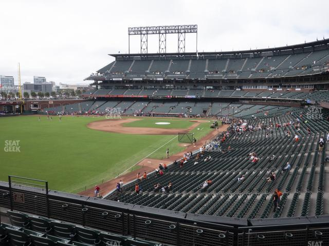 Oracle Park Section 233 view