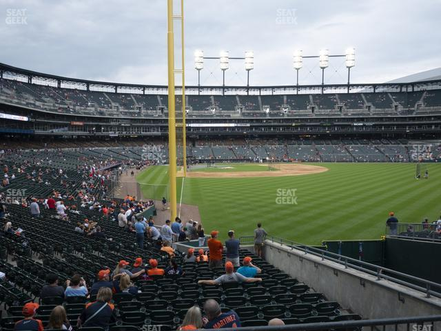 Comerica Park Section 107 view
