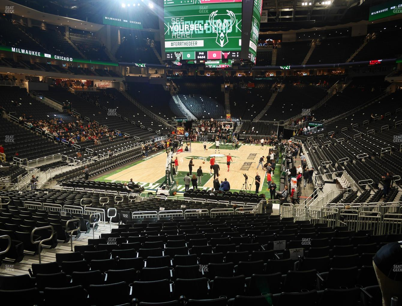 Milwaukee Bucks at Fiserv Forum Section 121 View