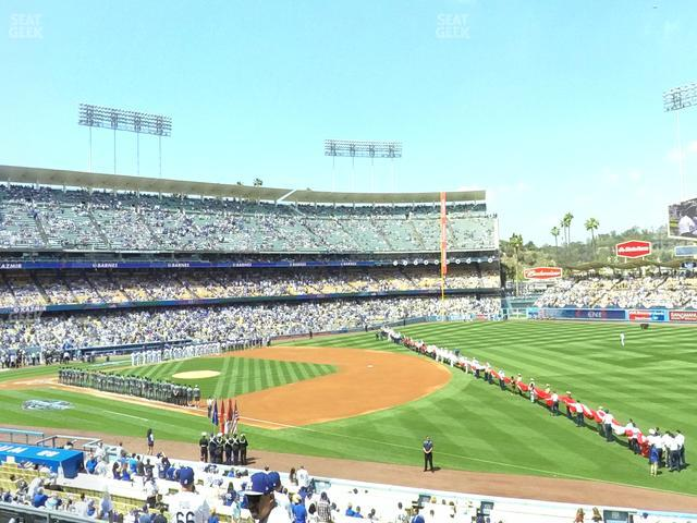 Dodger Stadium Loge Box 150 view
