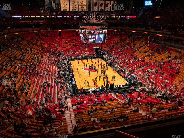 American Airlines Arena Section 302 view