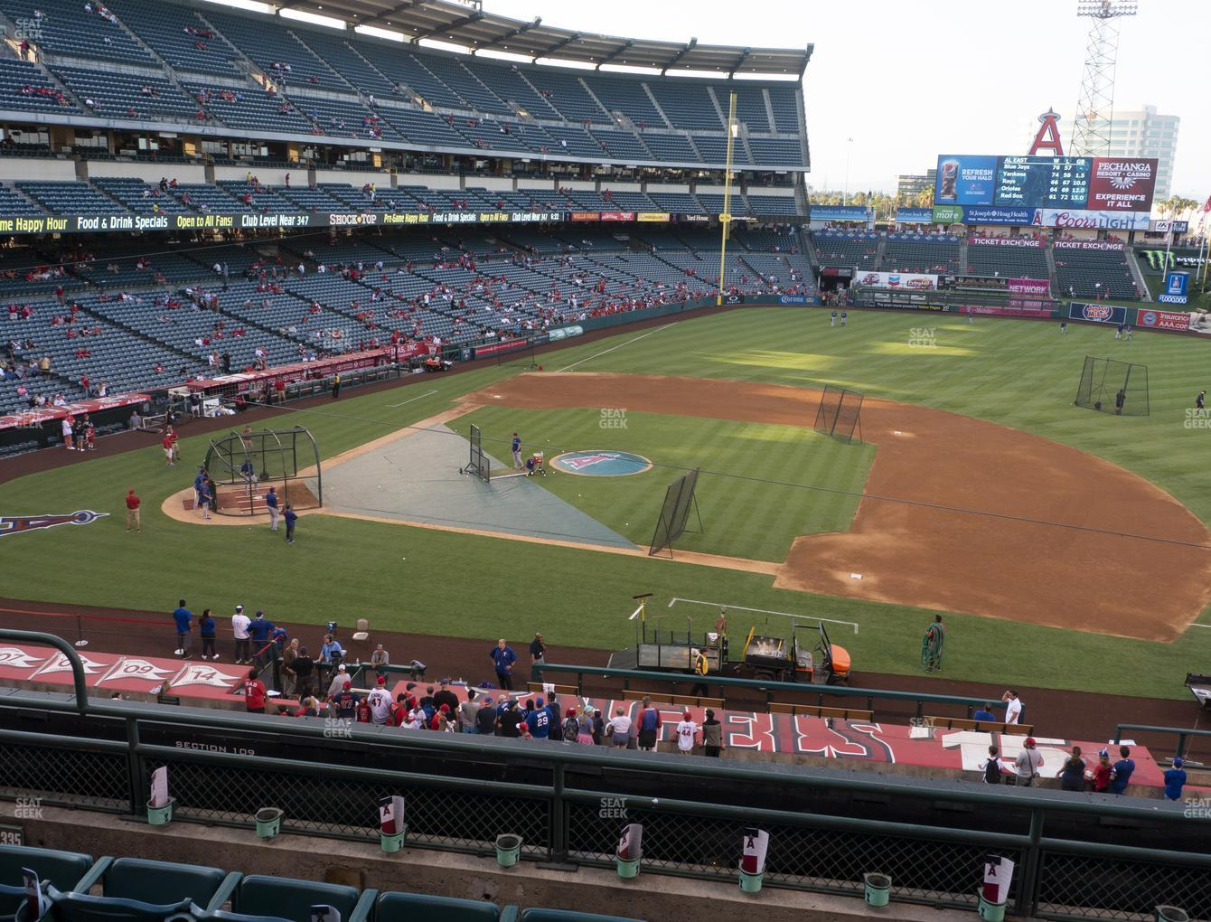 Los Angeles Angels at Angel Stadium of Anaheim Section 335 View