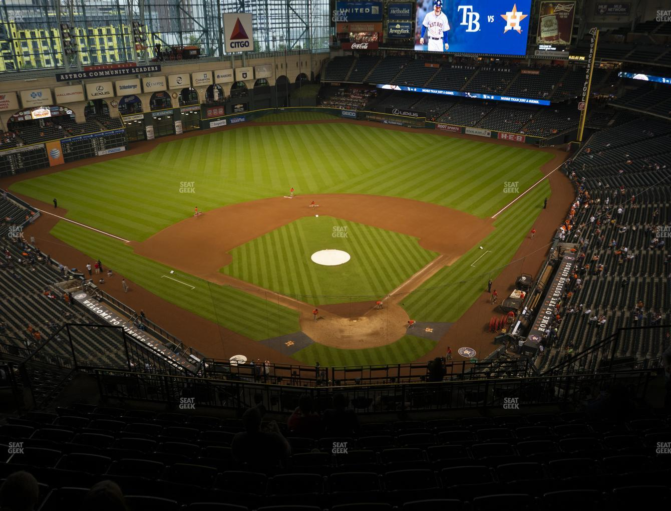 Houston Astros at Minute Maid Park Section 418 View