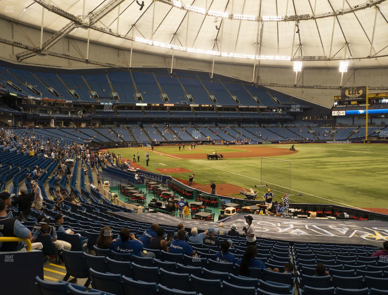 Tampa Bay Rays at Tropicana Field Section 136 View