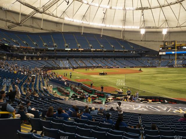 Tropicana Field Section 136 view