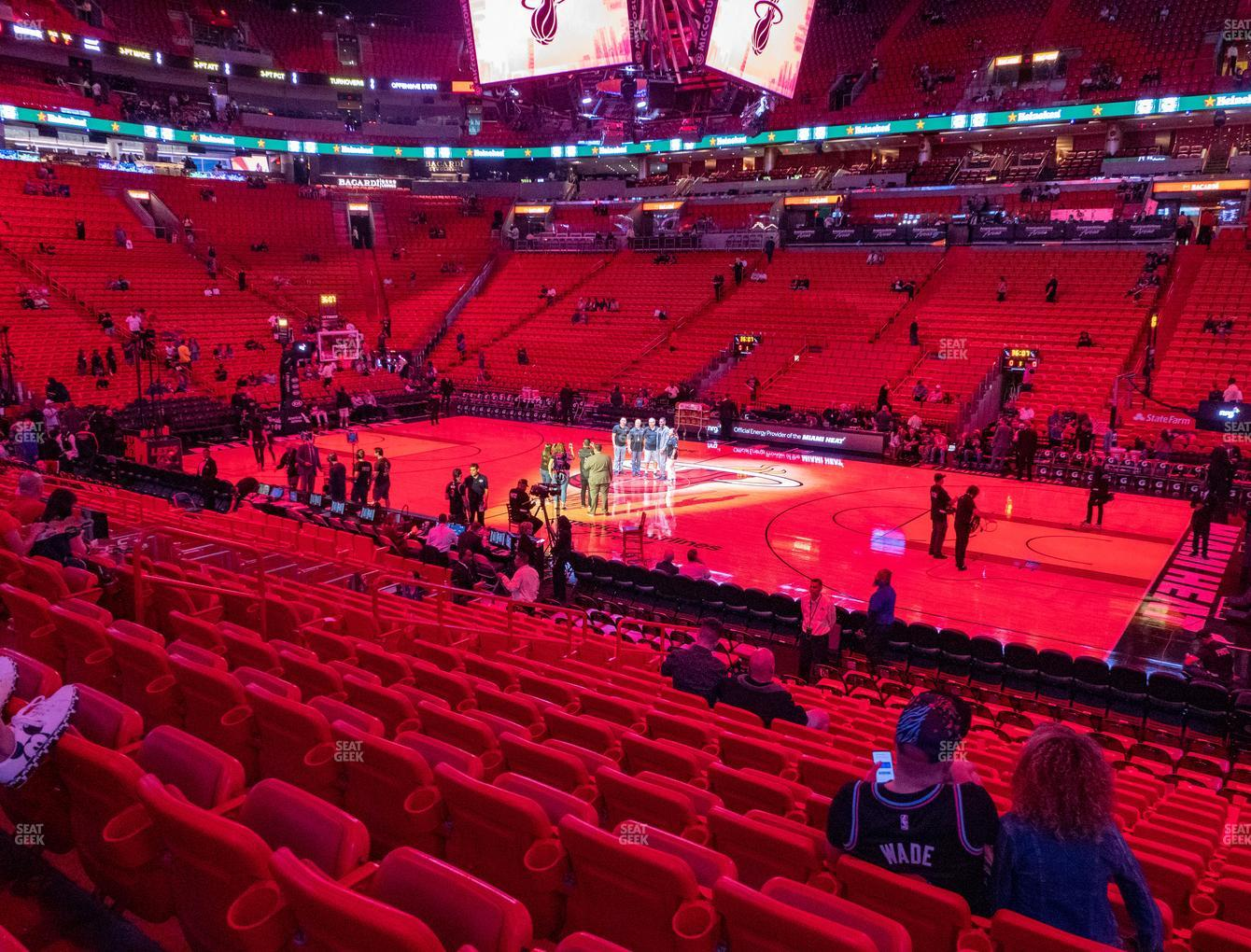 american airlines arena section 117 seat views | seatgeek