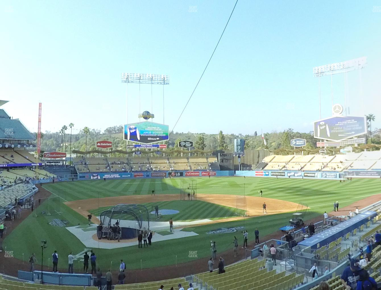 Los Angeles Dodgers at Dodger Stadium Loge Box 112 View