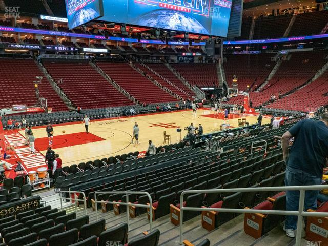 Toyota Center Section 122 view