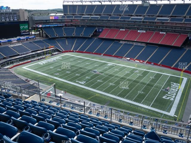 Gillette Stadium Section 305 view