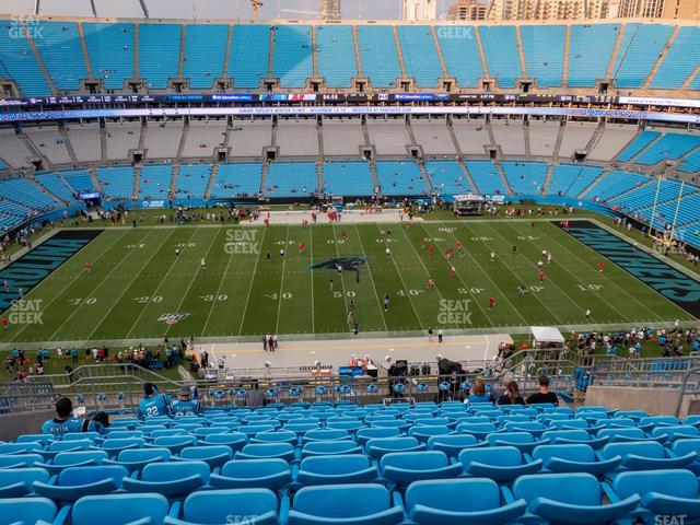 Bank of America Stadium Section 542 view