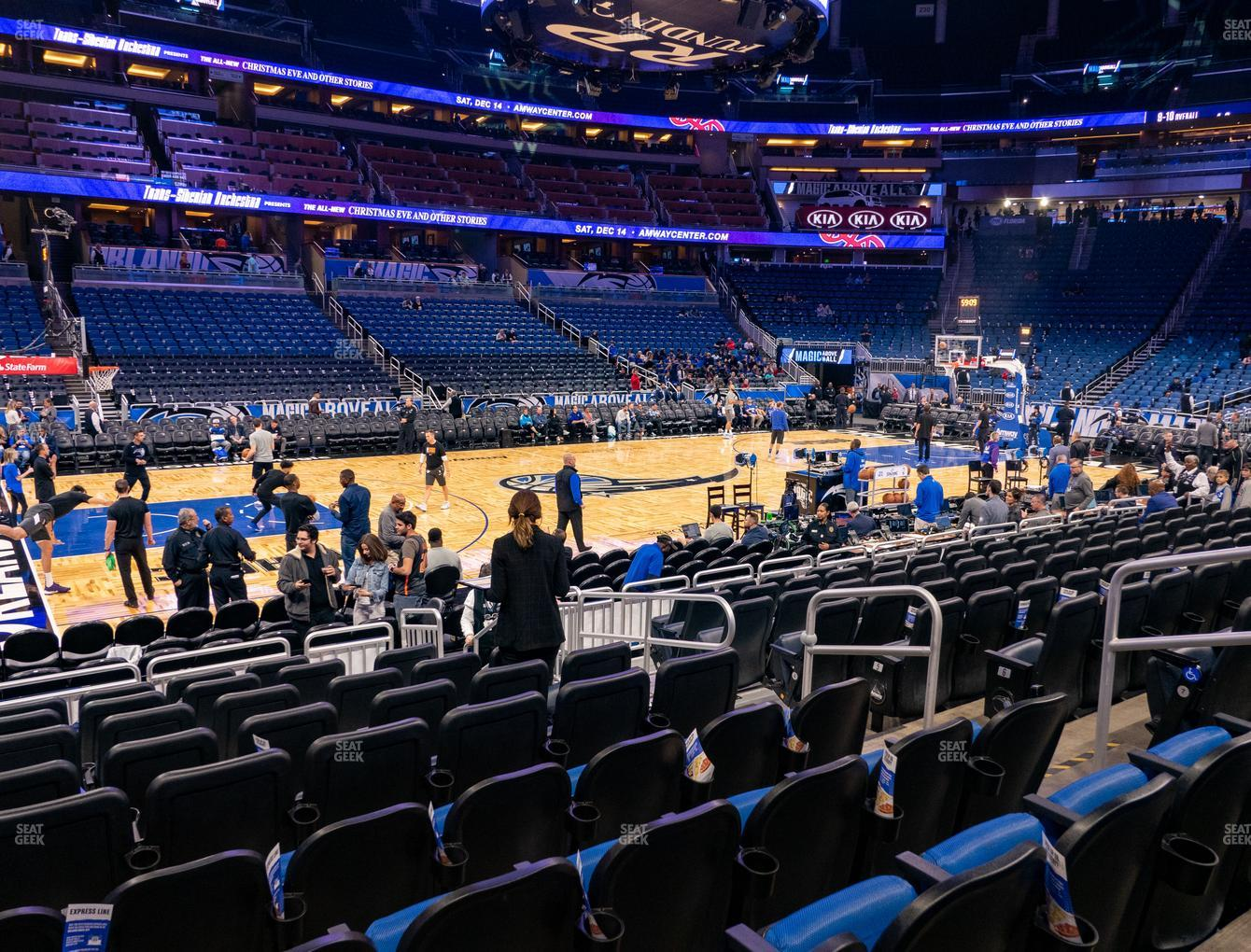 Orlando Magic at Amway Center Section 107 View