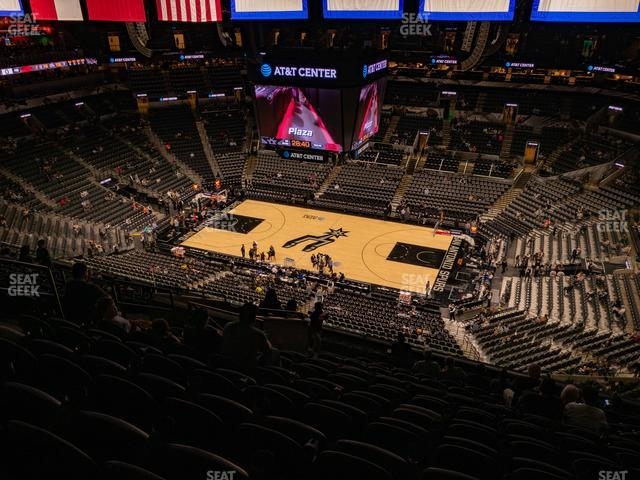 AT&T Center Section 206 view