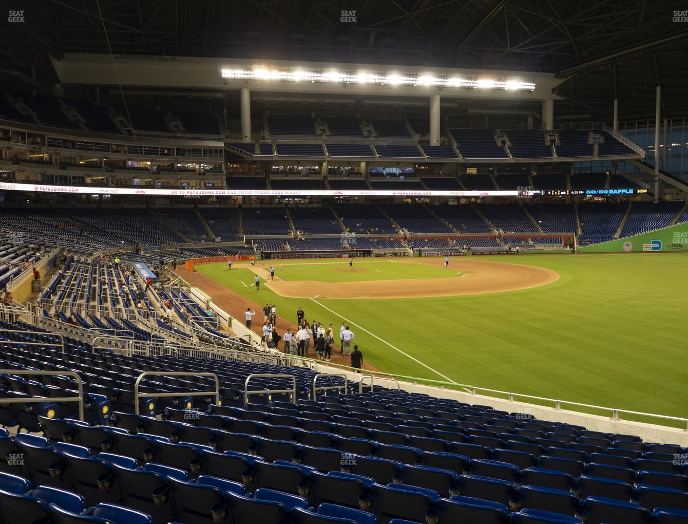 Miami Marlins at Marlins Park Section 2 View