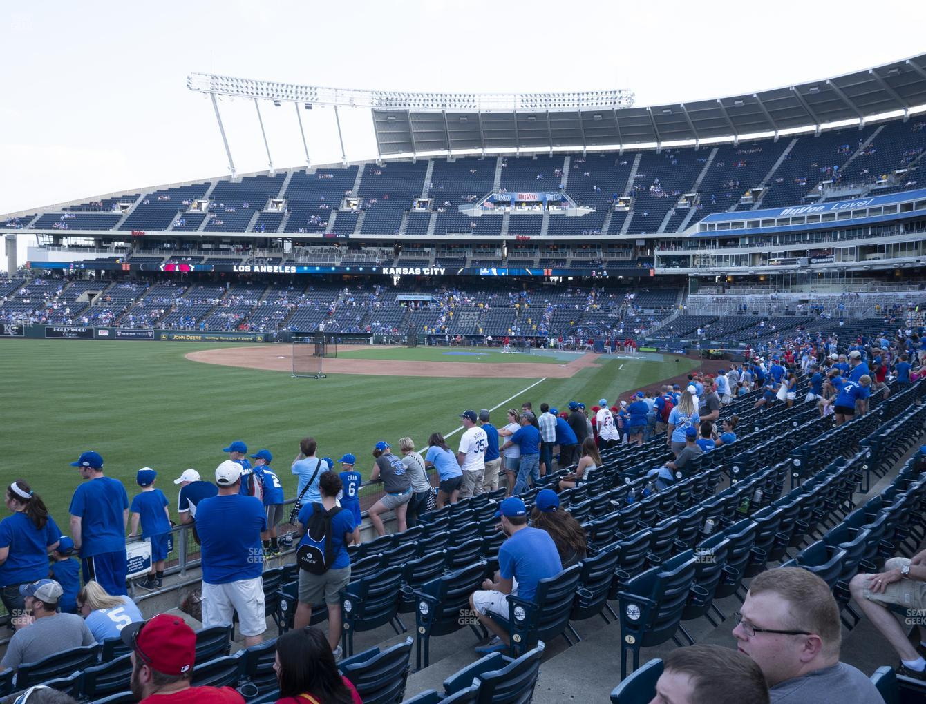 Kansas City Royals at Kauffman Stadium Section 109 View