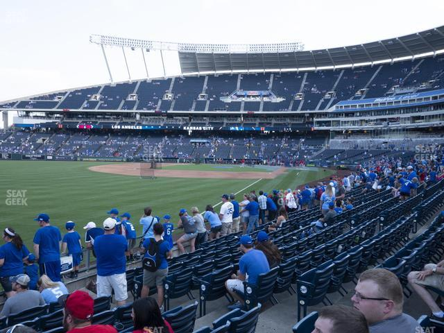 Kauffman Stadium Section 109 view