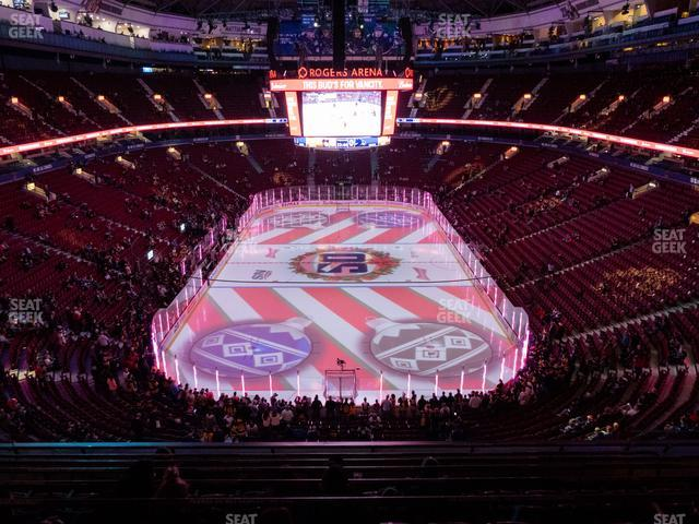 Rogers Arena Section 316 view