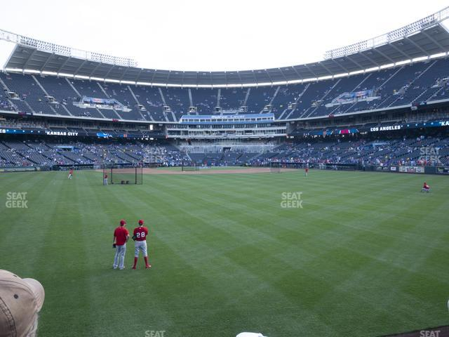 Kauffman Stadium Section 101 view