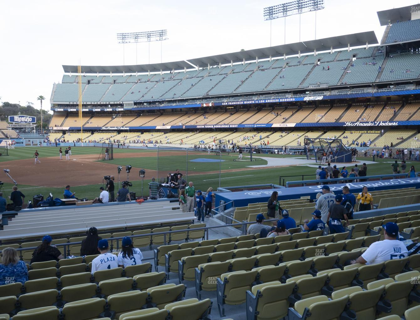 Los Angeles Dodgers at Dodger Stadium Field Box 29 View