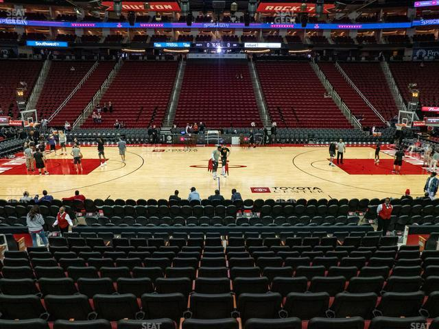 Toyota Center Section 107 view